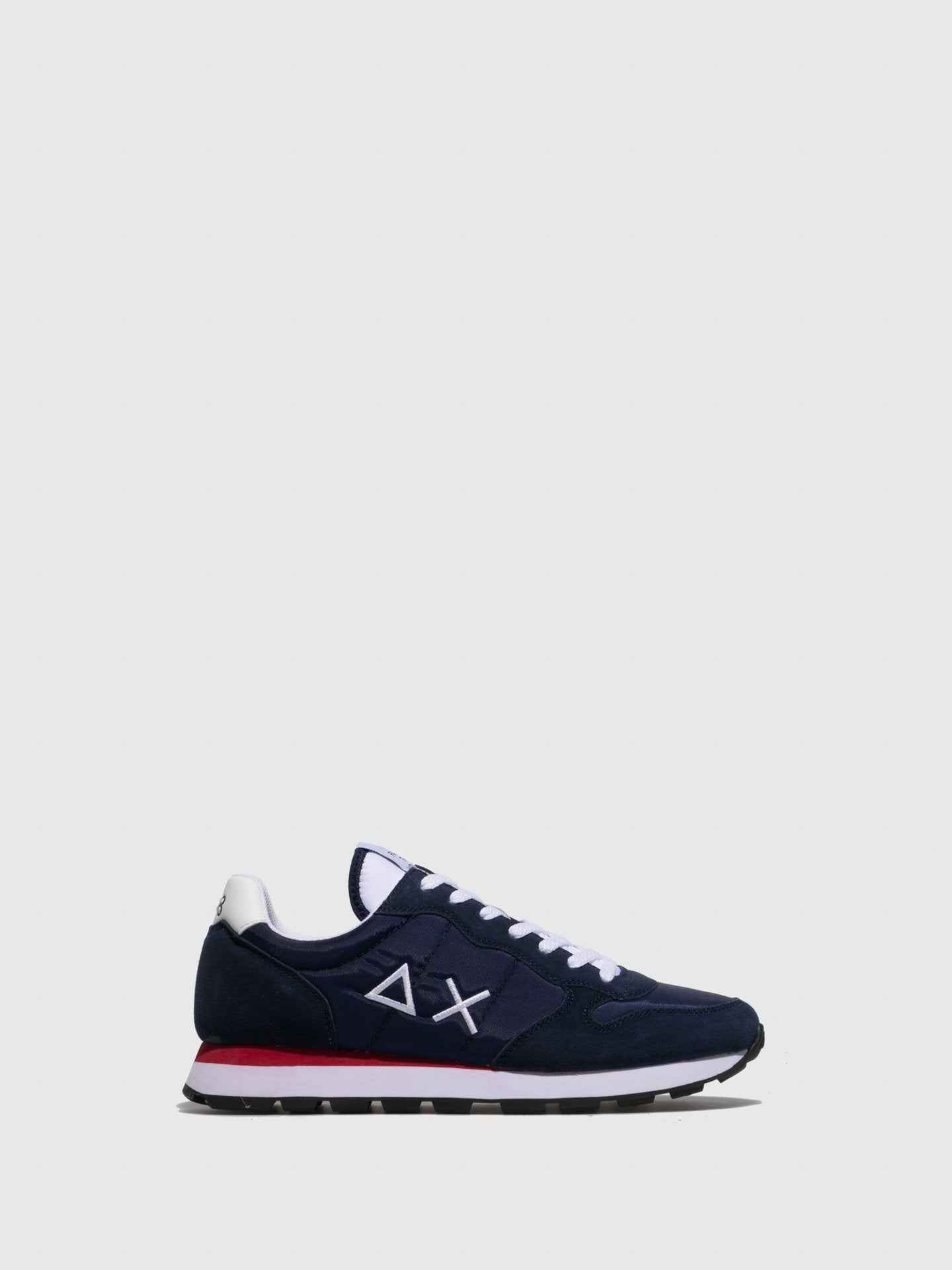 Sun68 Navy Lace-up Trainers