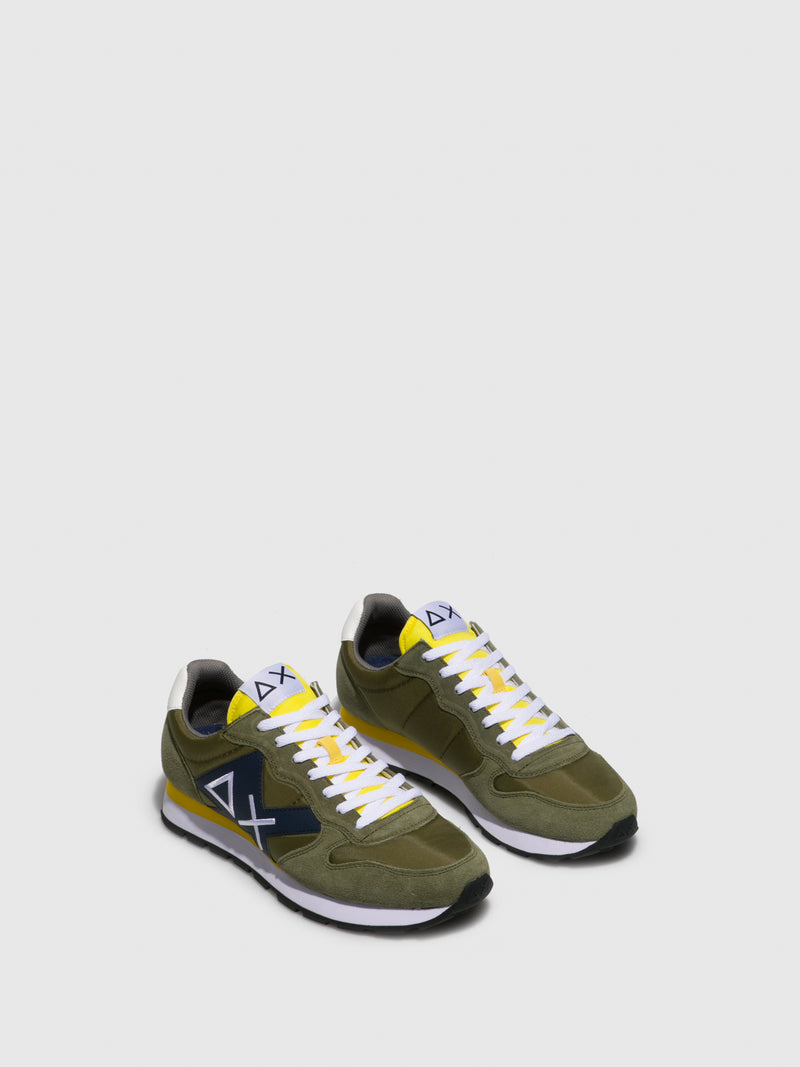 Sun68 Green Lace-up Trainers