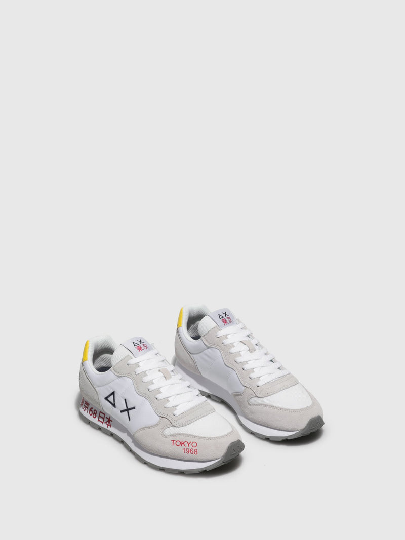 Sun68 White Lace-up Trainers
