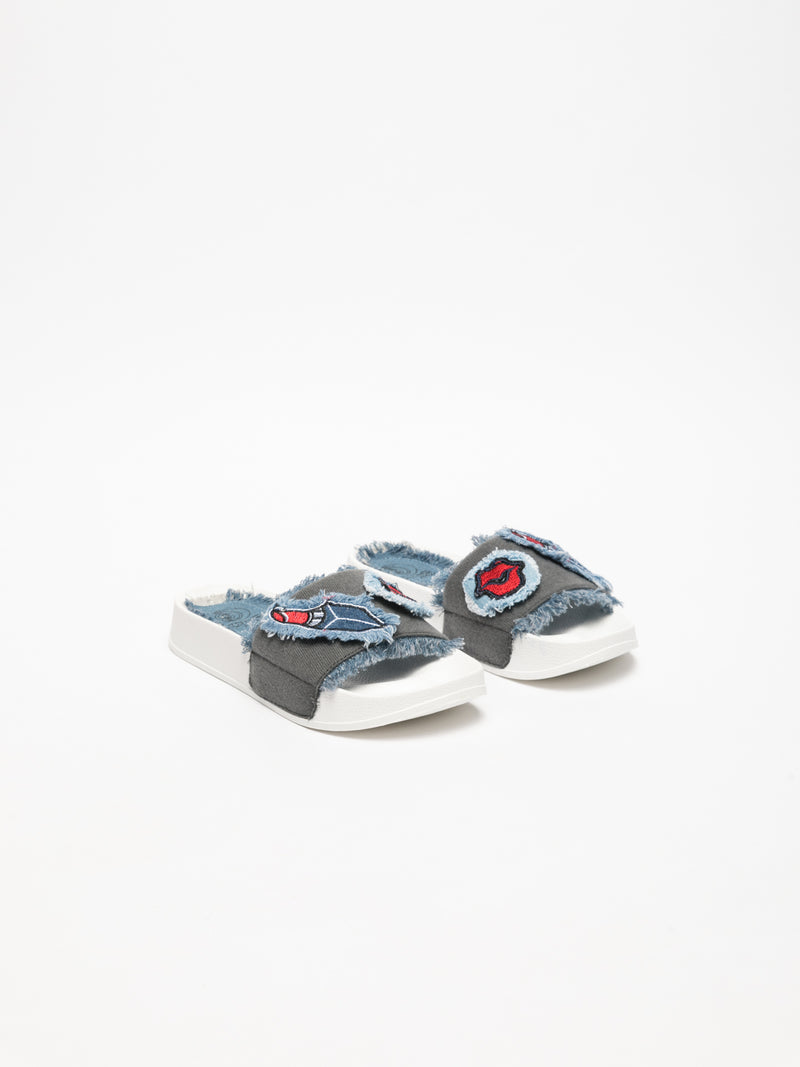 Multicolor Casual Slides