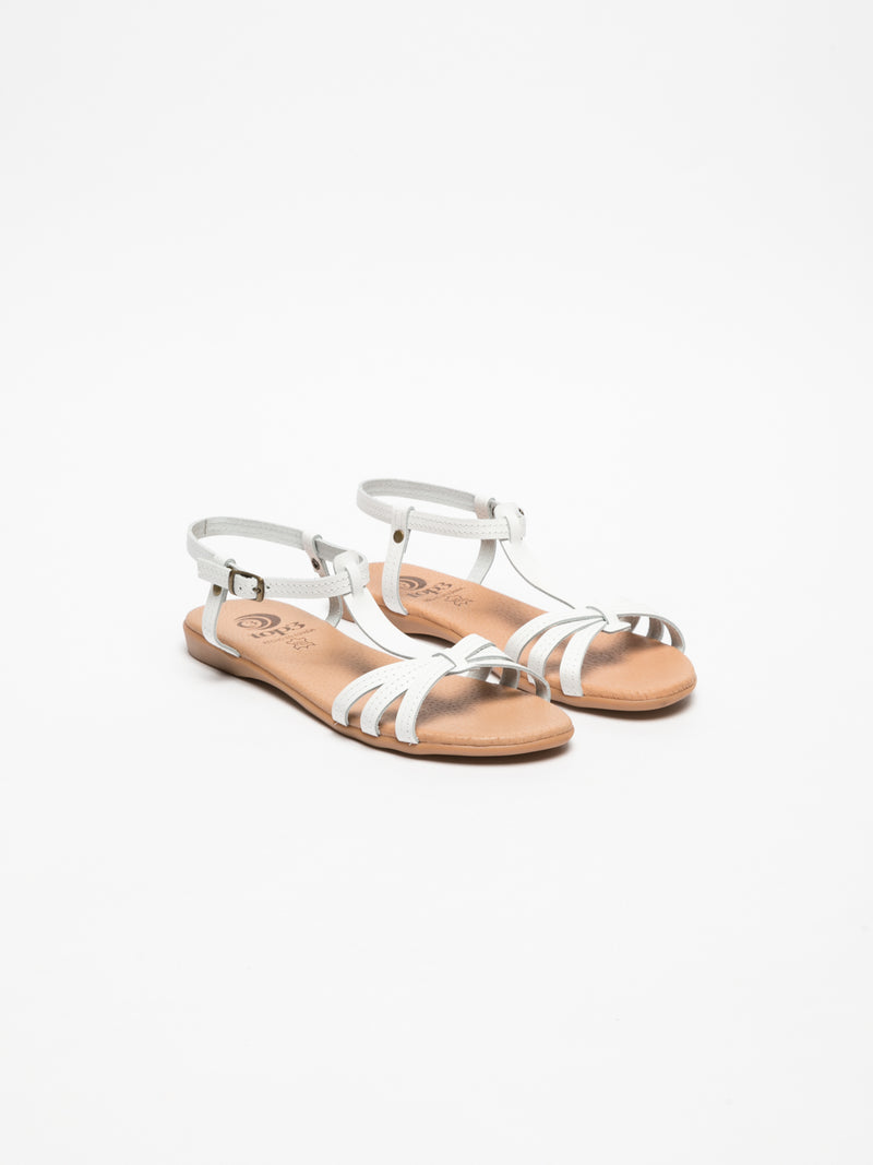 Top3 White Strappy Sandals