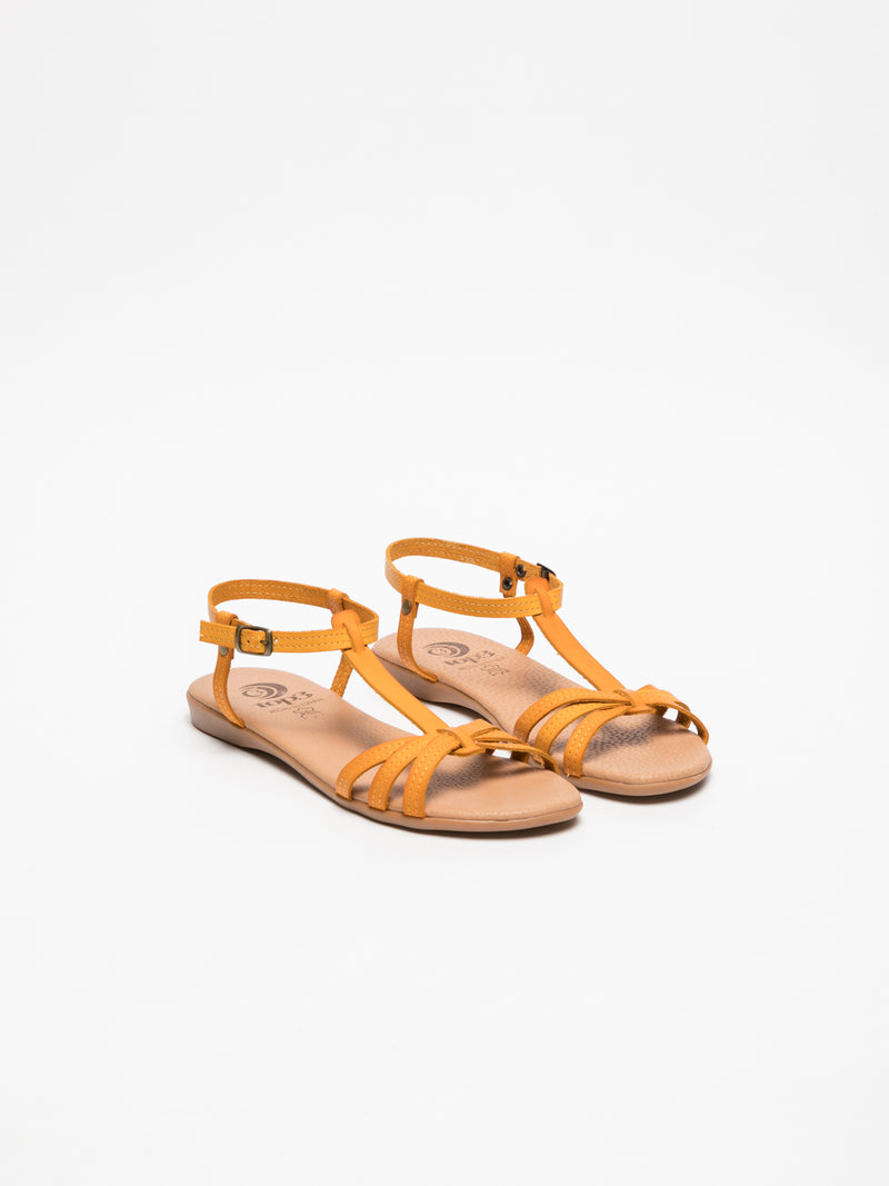 Top3 Orange Strappy Sandals