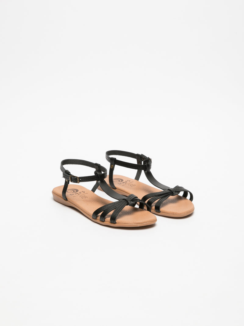 Top3 Black Strappy Sandals