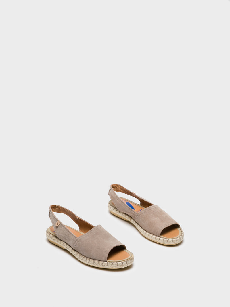Verbenas Tan Sling-Back Sandals
