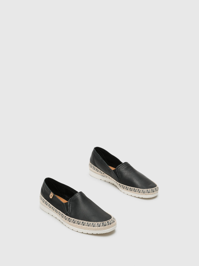 Black Elasticated Espadrilles