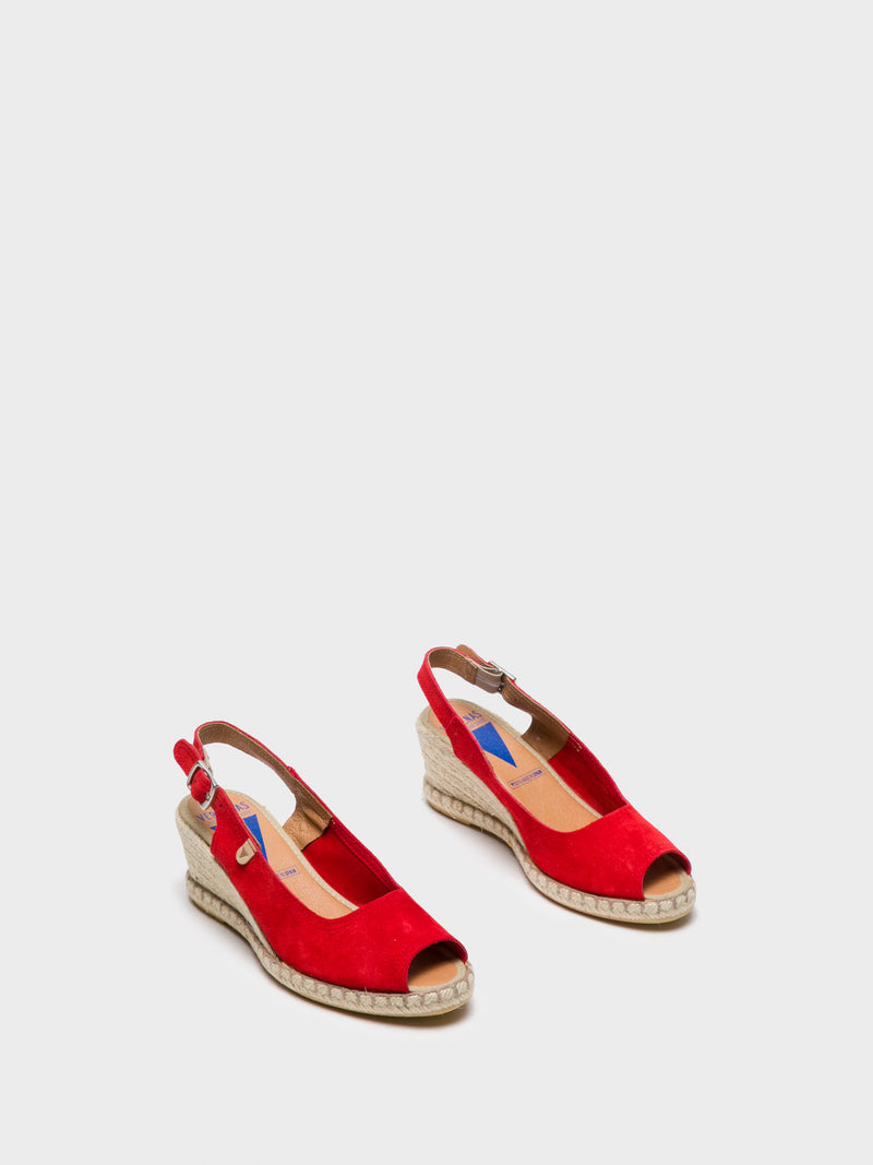 Verbenas Red Sling-Back Sandals