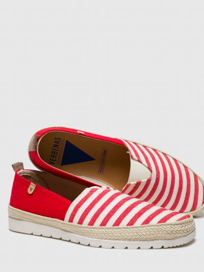 Verbenas Red Slip-on Trainers