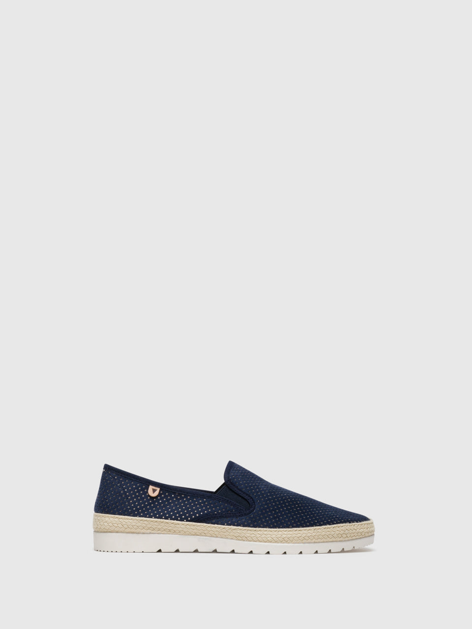 Verbenas Blue Slip-on Trainers