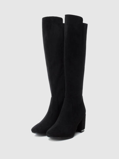 XTI Black Knee-High Boots