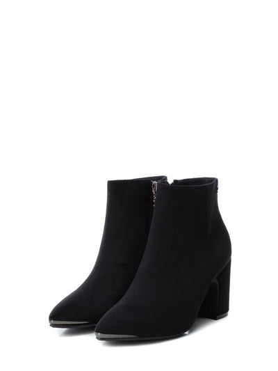 XTI Black Pointed Toe Ankle Boots