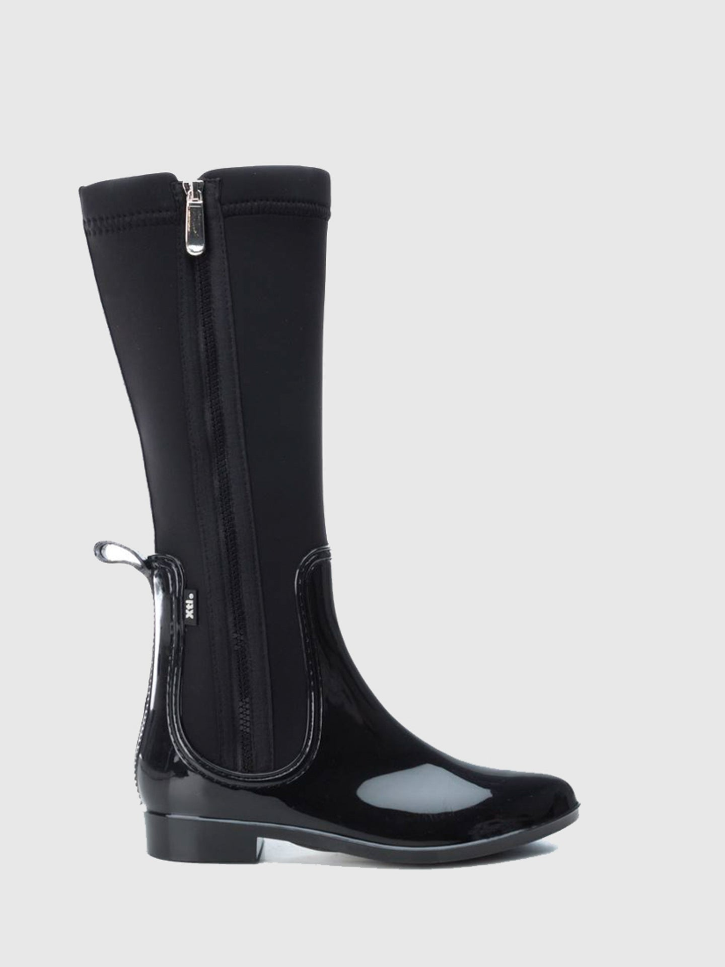 XTI Black Zip Up Boots