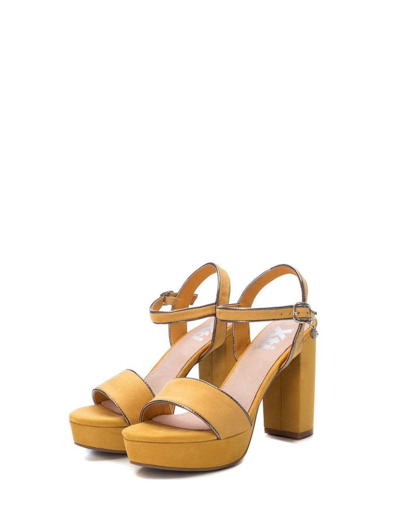 XTI Yellow Ankle Strap Sandals