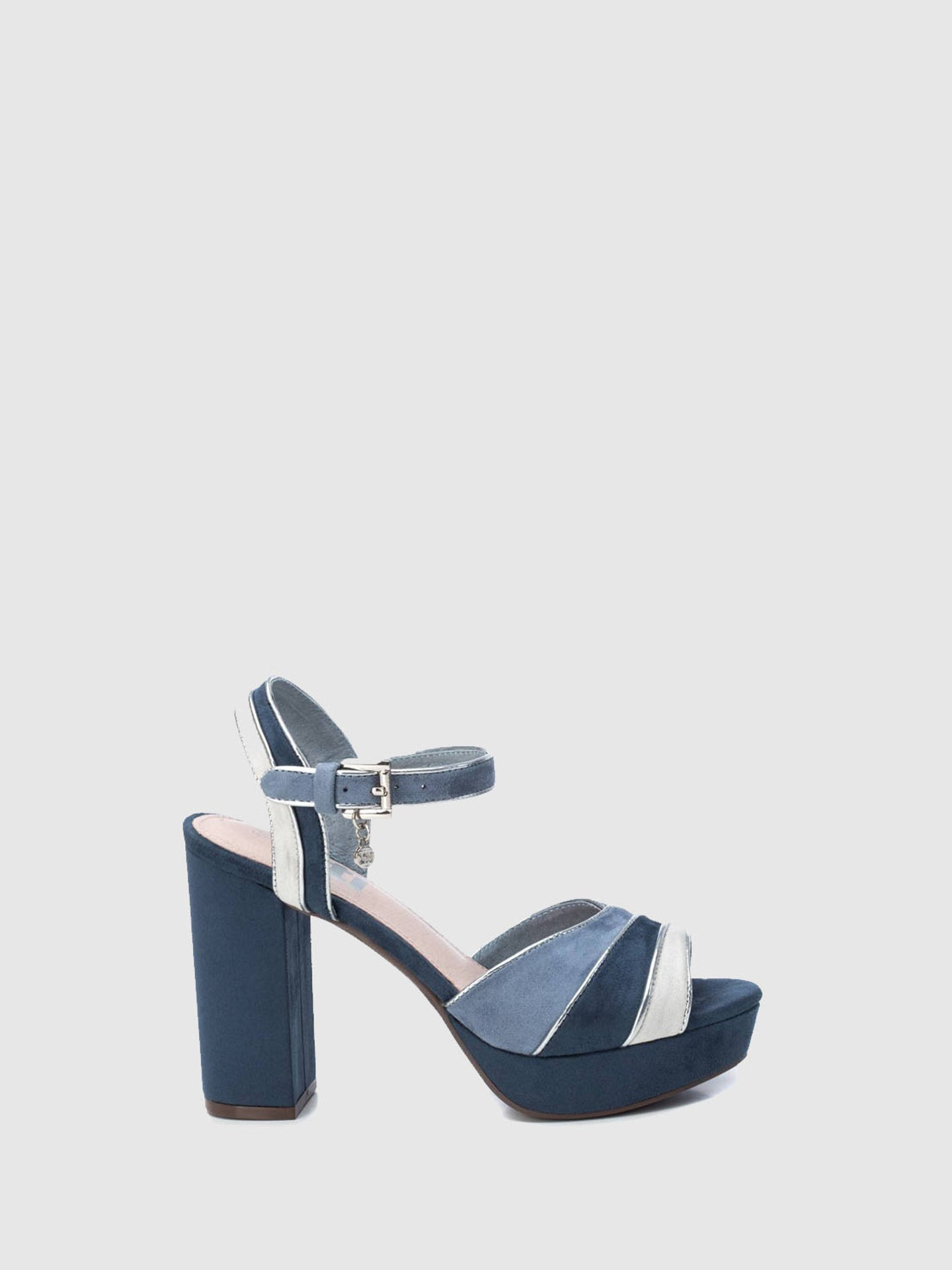 XTI Blue Ankle Strap Sandals