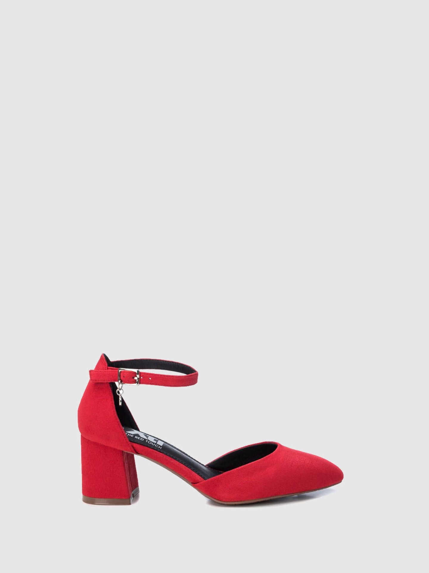 XTI Red Ankle Strap Shoes