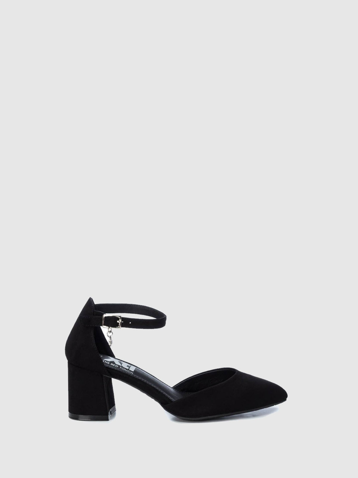 XTI Black Ankle Strap Shoes