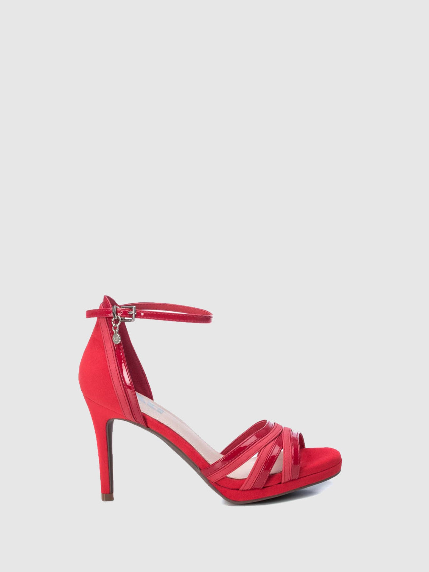 XTI Red Ankle Strap Sandals