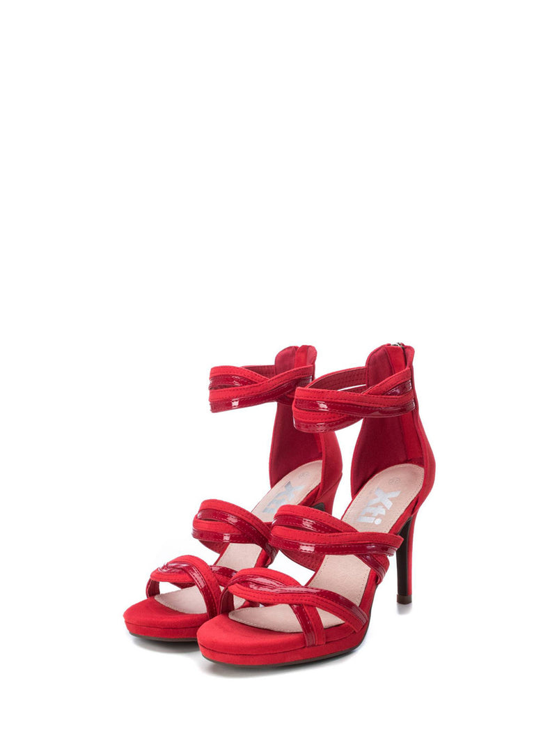 XTI Red Strappy Sandals