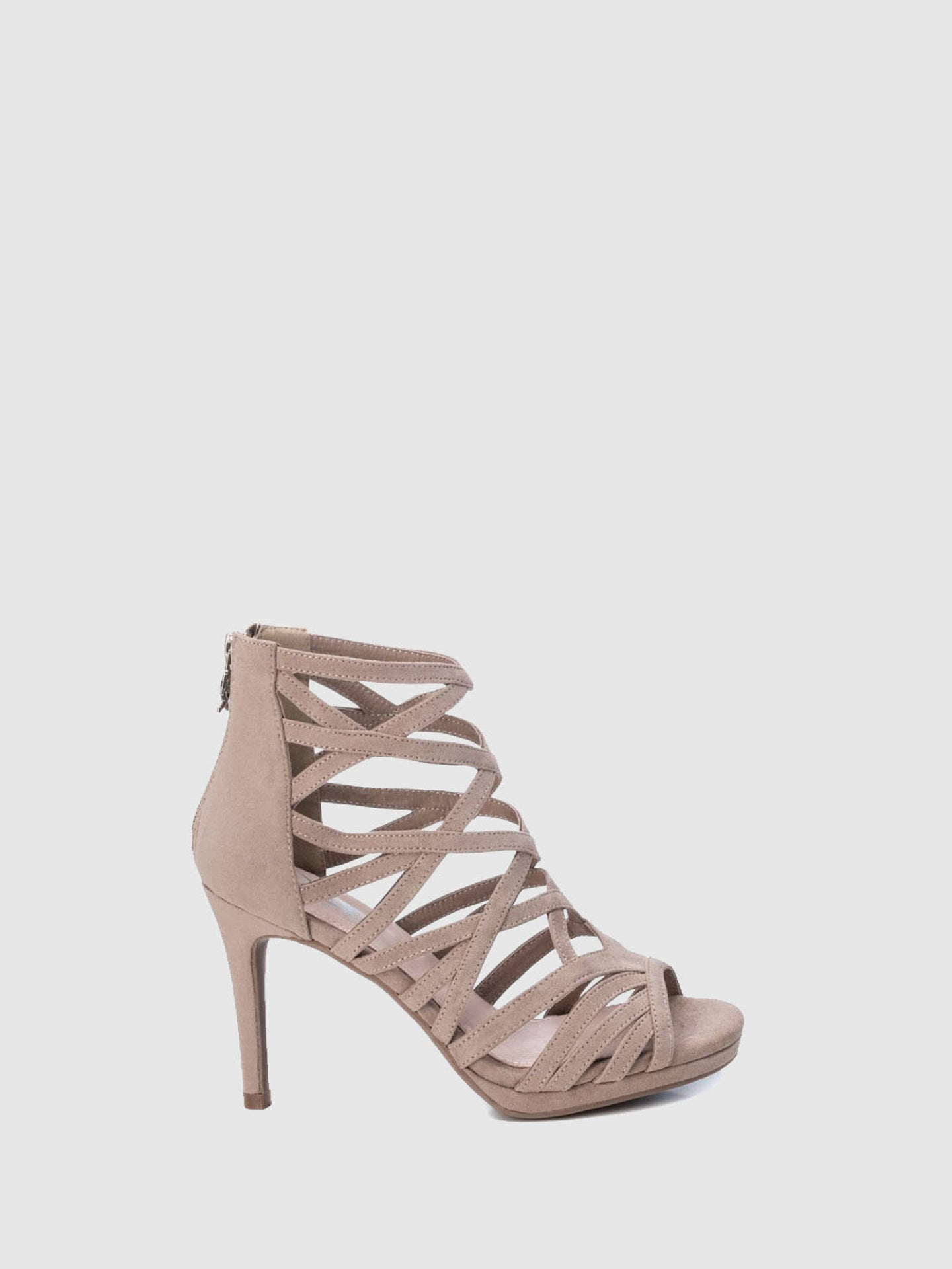 XTI Brown Strappy Sandals