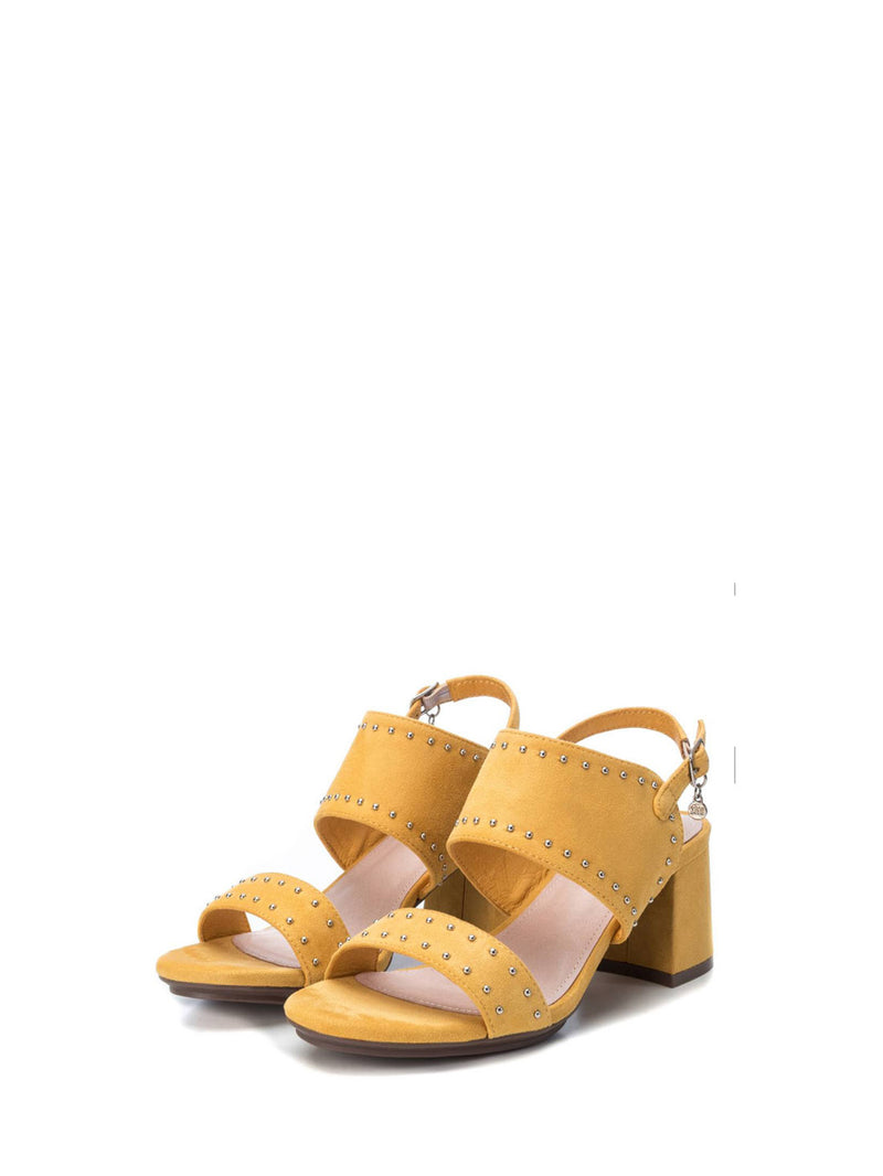 XTI Yellow Sling-Back Sandals