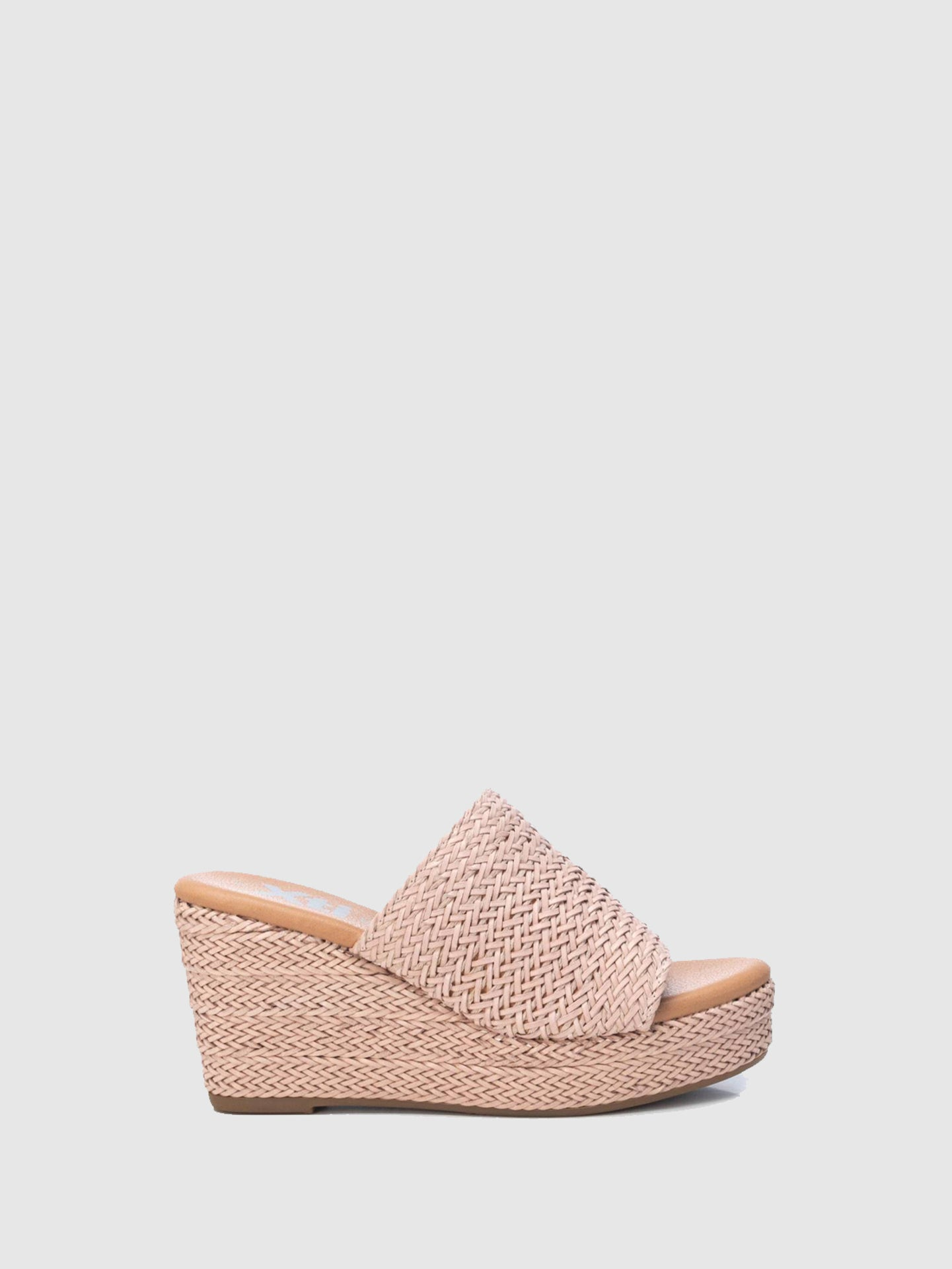 XTI Pink Wedge Mules