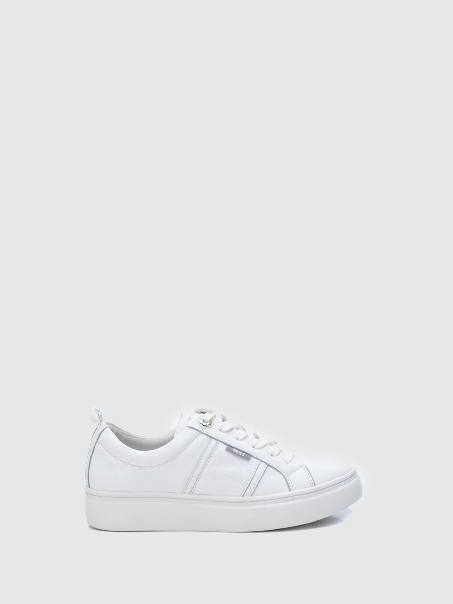 XTI White Lace-up Trainers