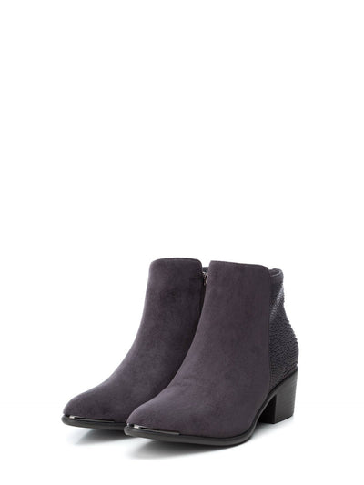 XTI Gray Zip Up Ankle Boots