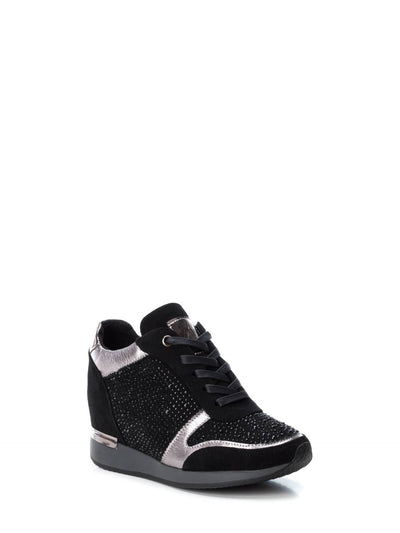 XTI Black Wedge Trainers