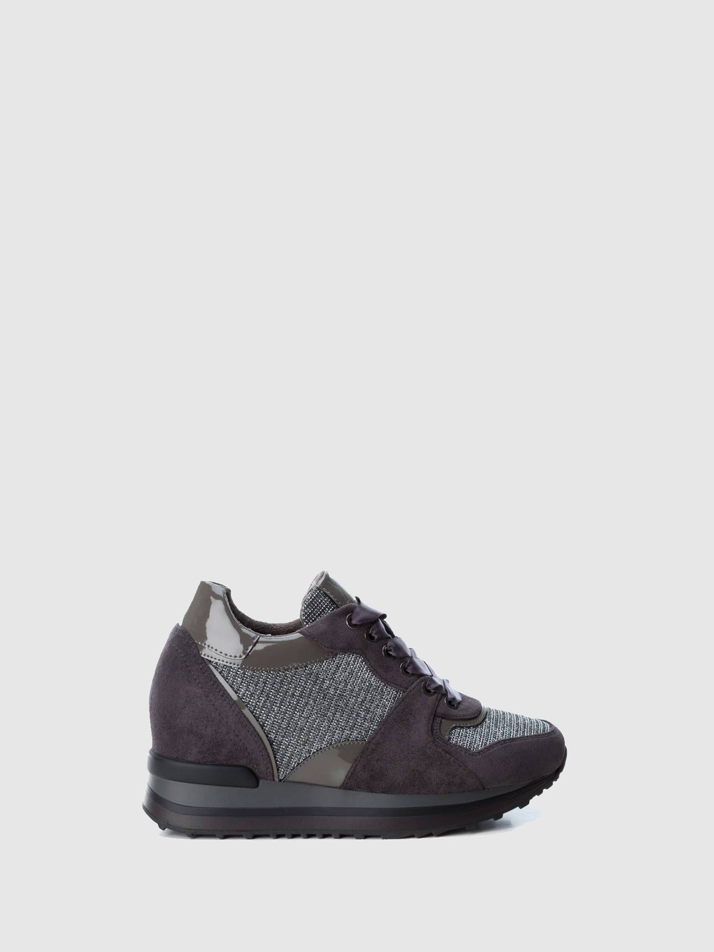 XTI Gray Wedge Trainers
