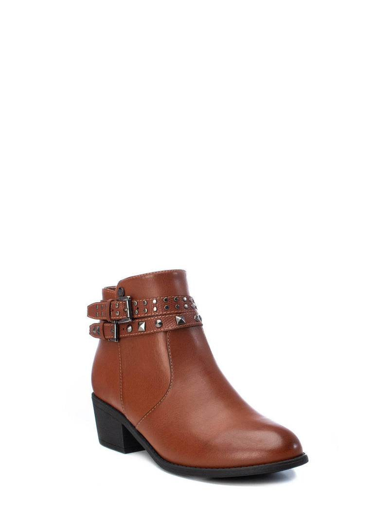 XTI Wheat Zip Up Ankle Boots
