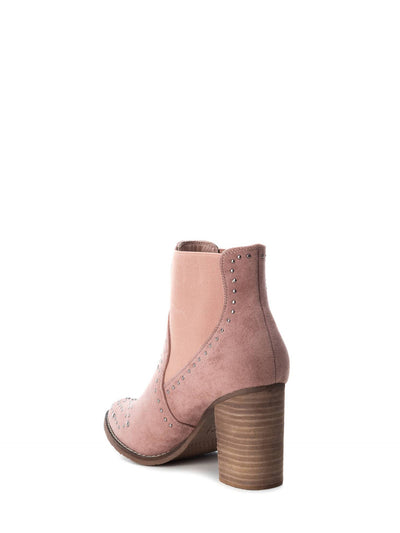 XTI Brown Elasticated Ankle Boots