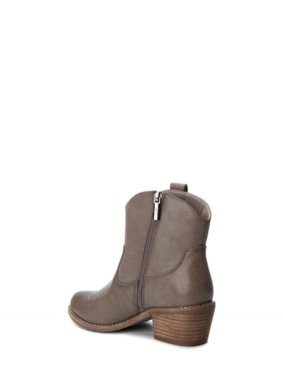 XTI Gray Cowboy Ankle Boots