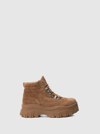 XTI Wheat Platform Ankle Boots
