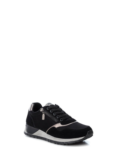 XTI Black Lace-up Trainers