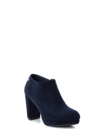 XTI Navy Zip Up Ankle Boots