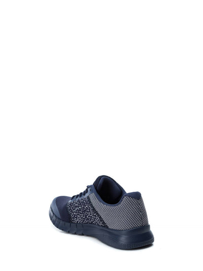 XTI Navy Lace-up Trainers