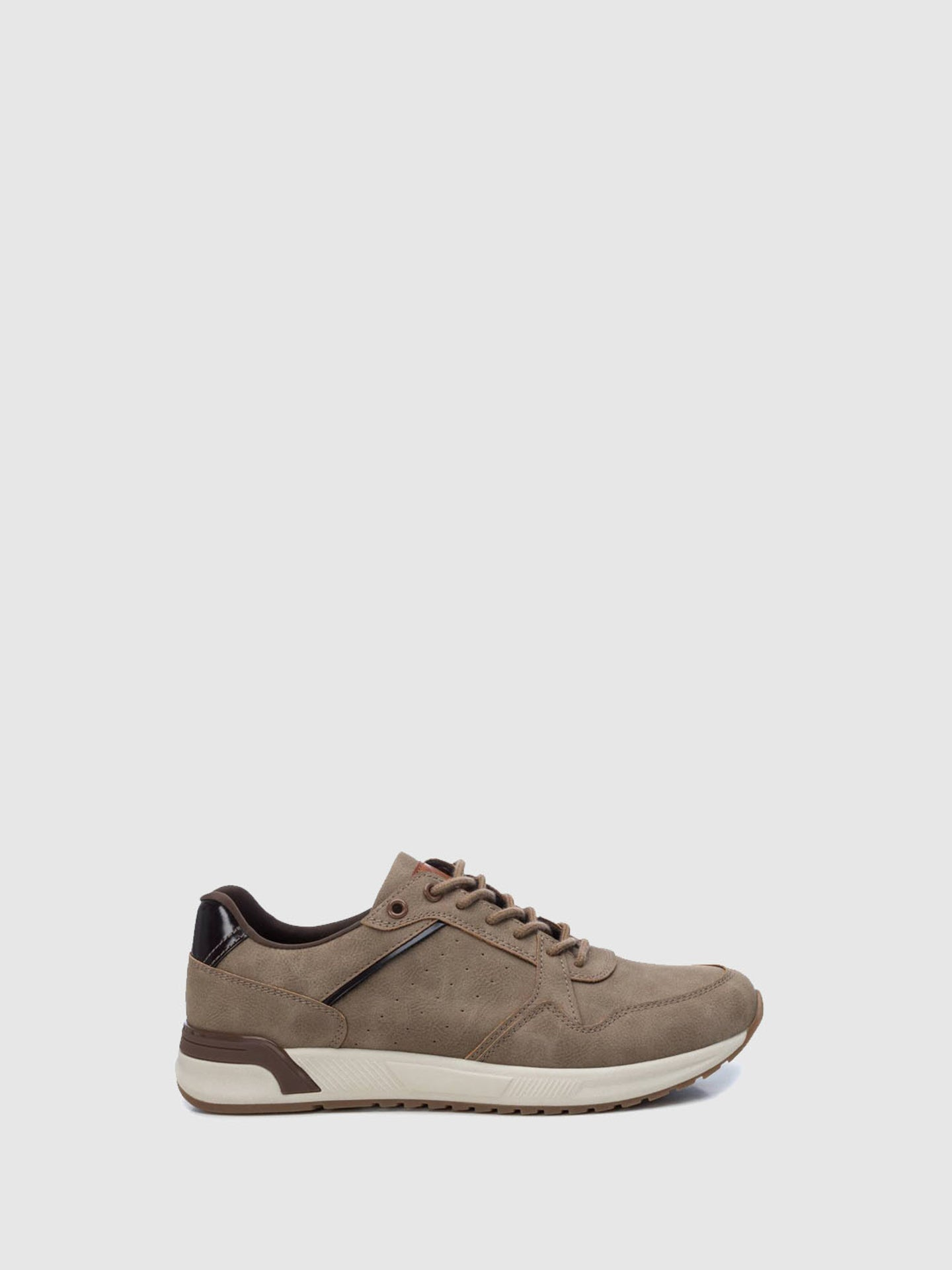 XTI Brown Lace-up Trainers