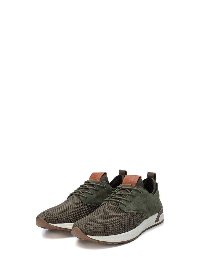 XTI Green Lace-up Trainers