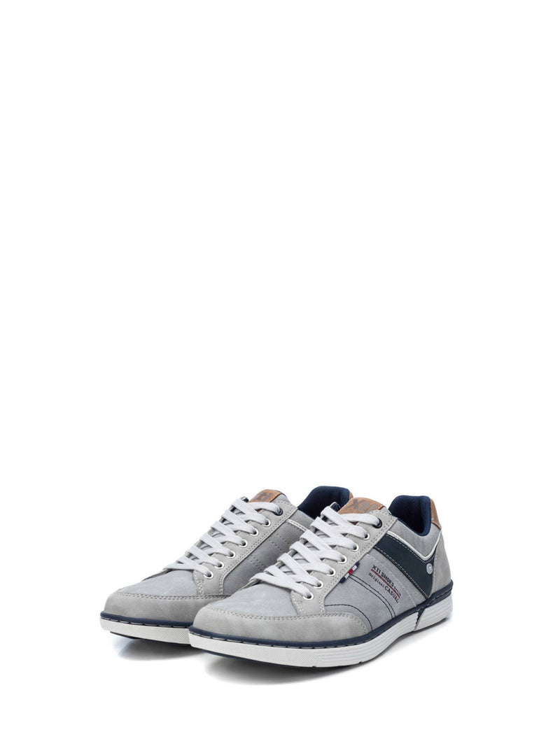 XTI Gray Lace-up Shoes
