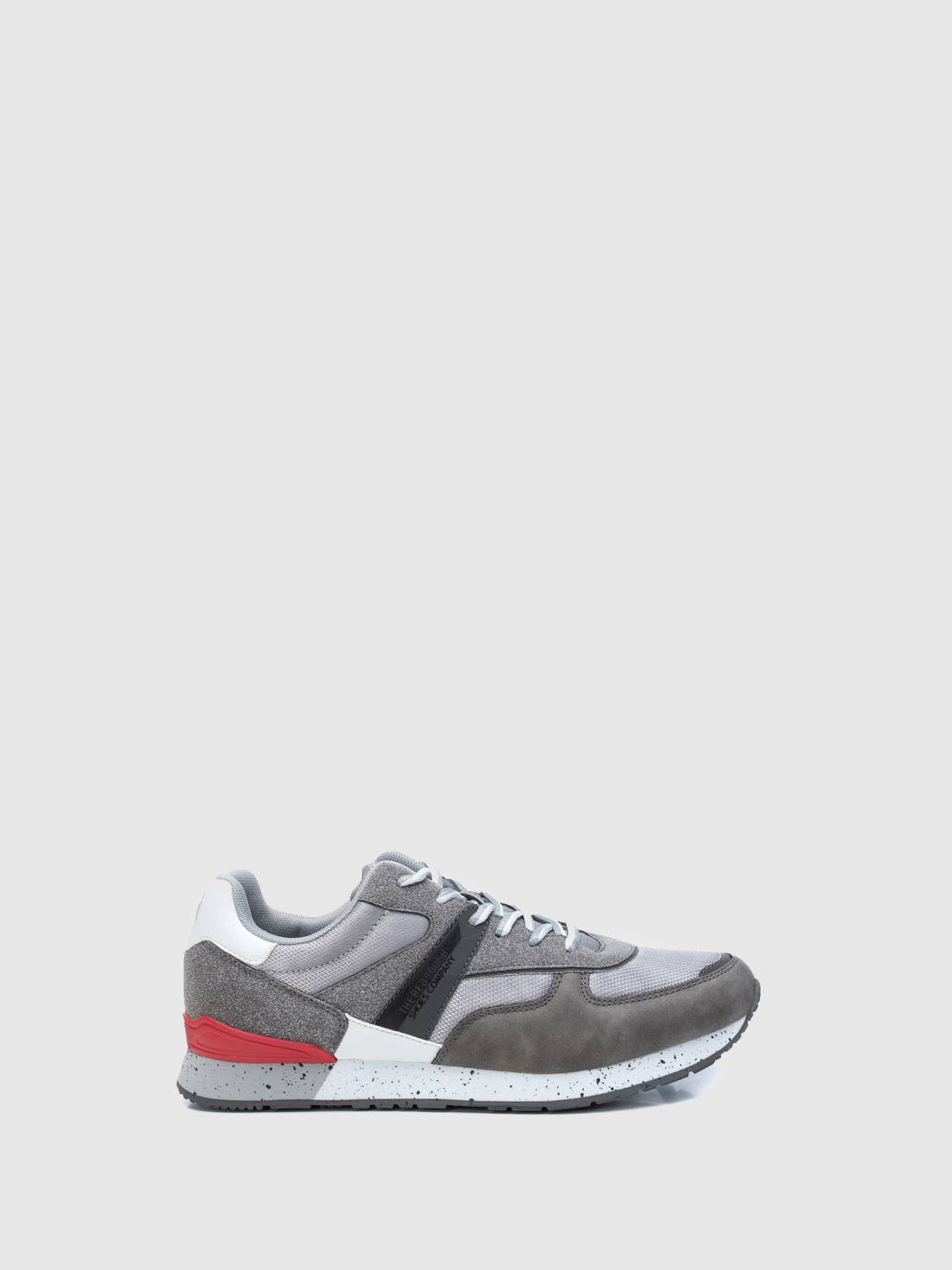 XTI Gray Lace-up Trainers