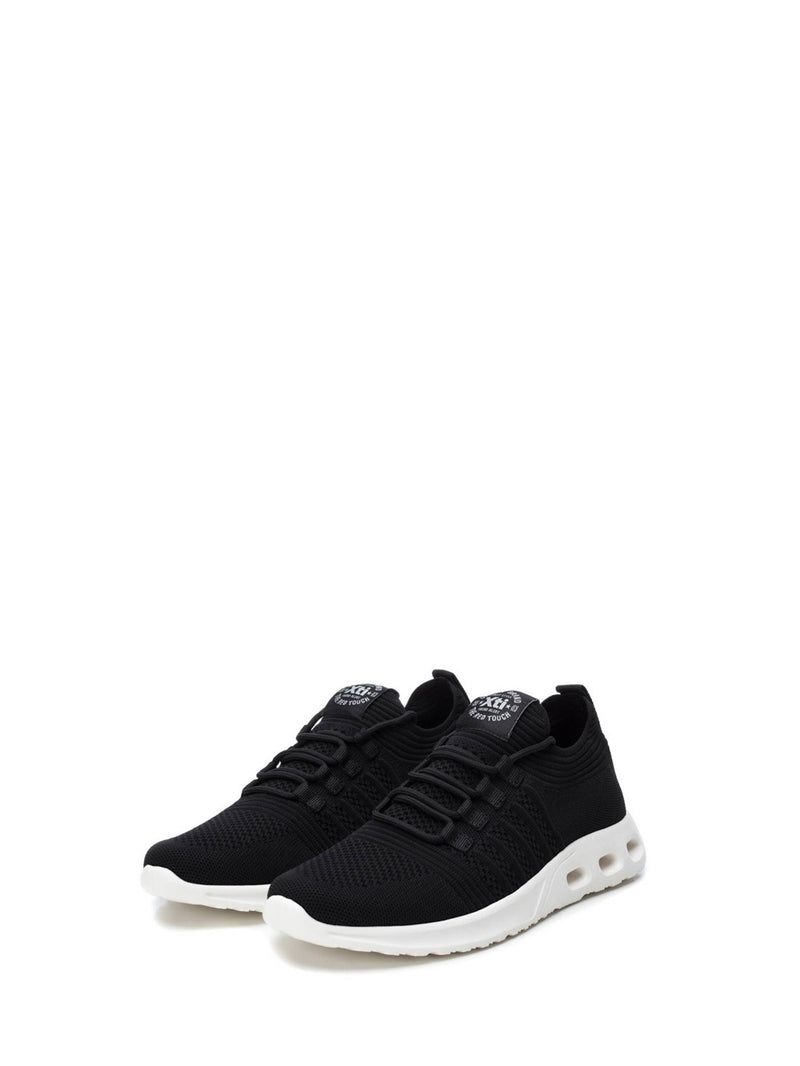 XTI Black Elasticated Trainers