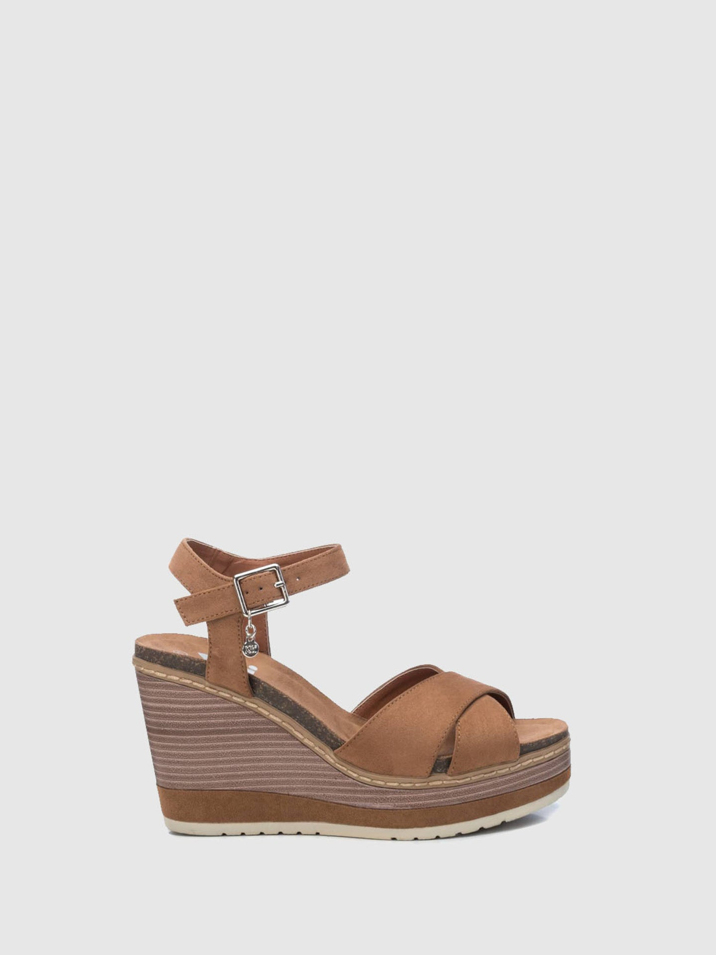 XTI Brown Wedge Sandals