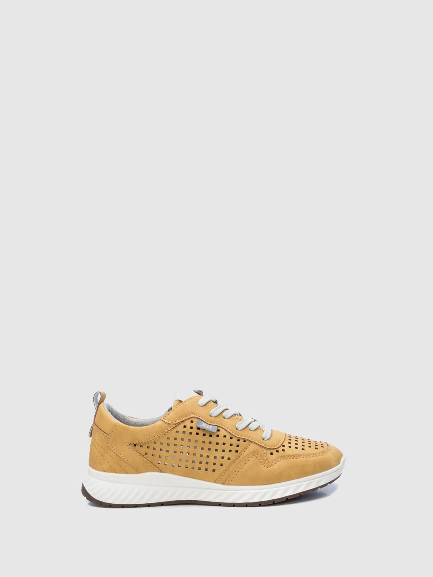 XTI Yellow Lace-up Trainers