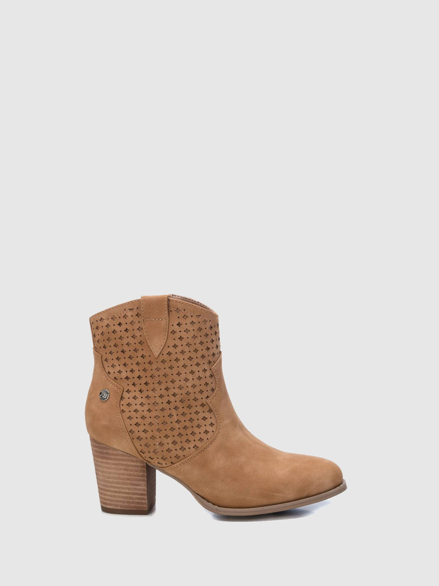 XTI Brown Zip Up Ankle Boots