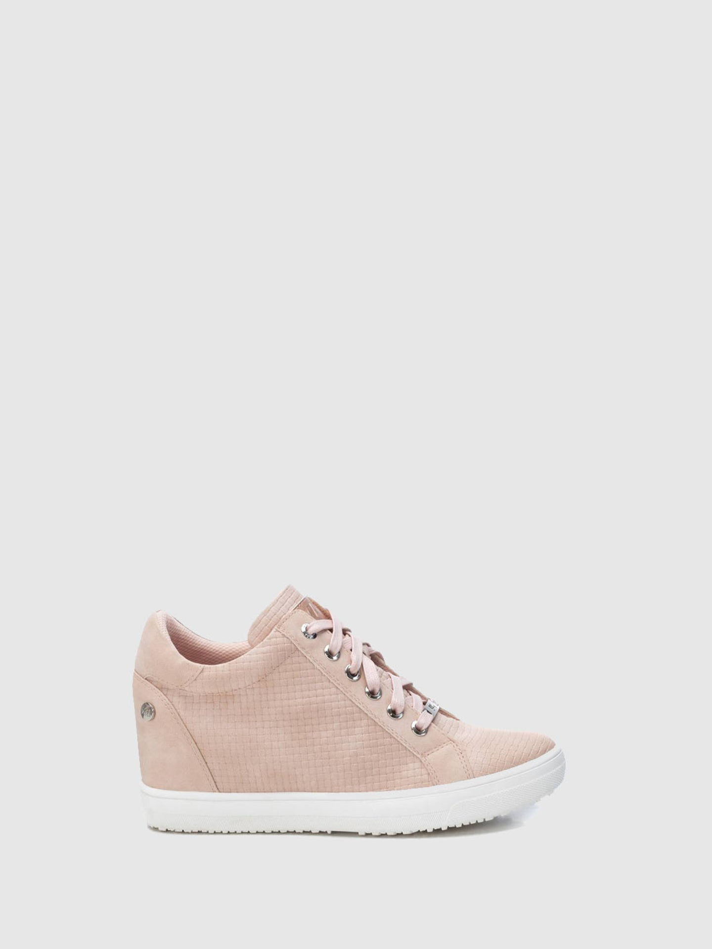 XTI Tan Pink Wedge Trainers