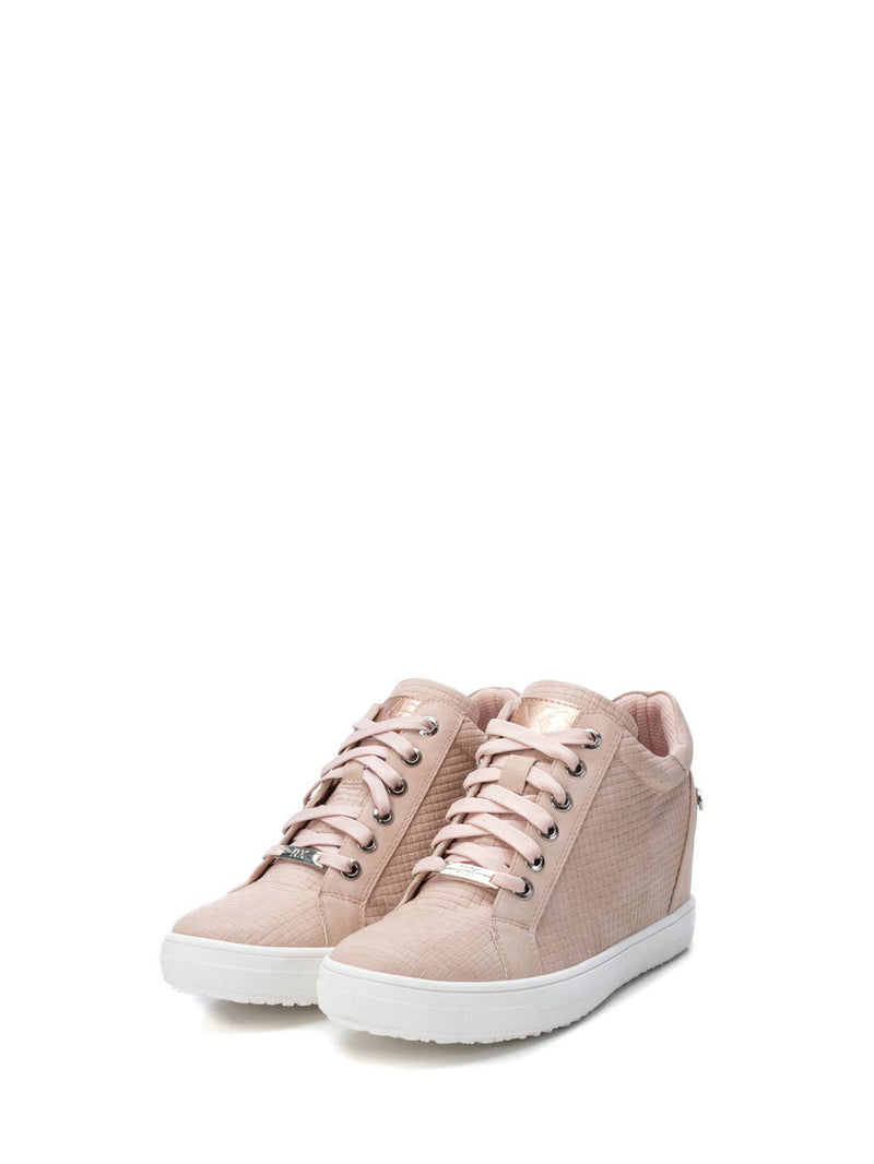 Tan Pink Wedge Trainers
