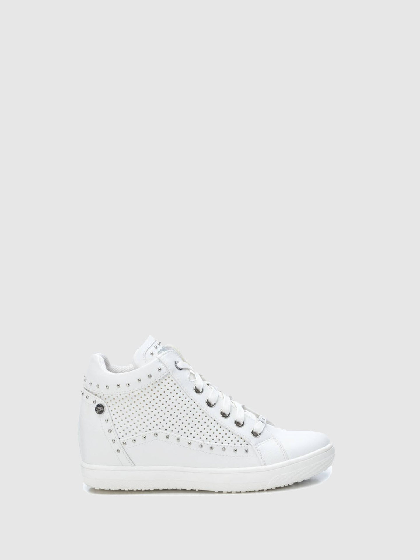 XTI White Wedge Trainers