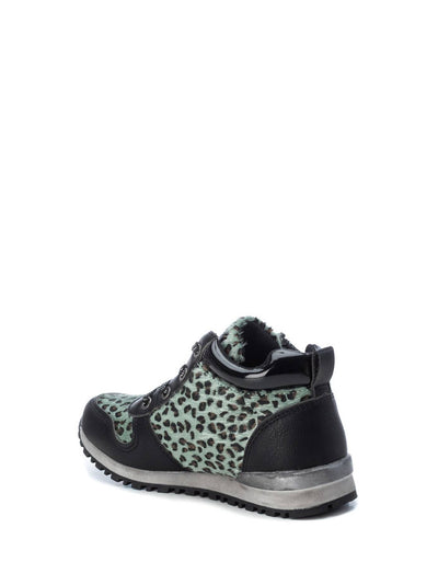 XTI Kids Green Black Zip Up Ankle Boots