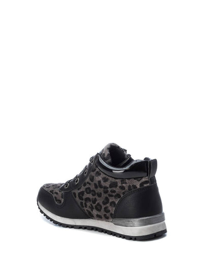 XTI Kids Brown Black Zip Up Ankle Boots