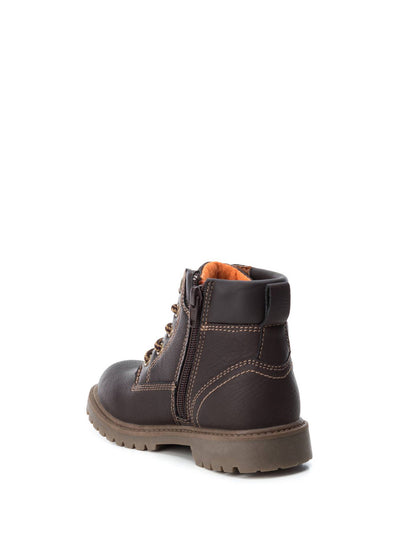 XTI Kids Maroon Zip Up Ankle Boots