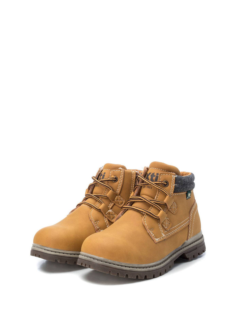 XTI Kids Wheat Lace-up Ankle Boots